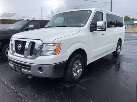 Pre-Owned 2018 Nissan NV Passenger NV3500 HD SL Rear Wheel Drive Full-size Passenger Van